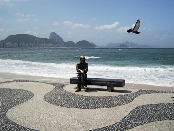 Copacabana Beach - Sidewalk Sculpture - Rio de Janeiro