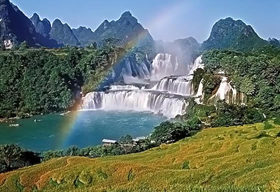 Image result for Ban Gioc Waterfall, Cao Bang, Vietnam