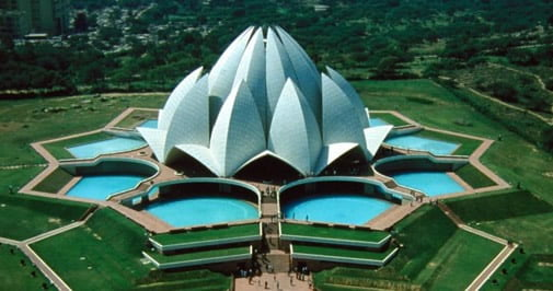 Aerial View of Lotus Temple