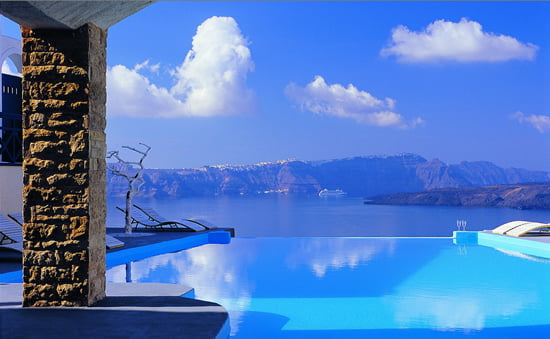 Top 50 infinity pools in the world world top top - Santorini infinity pool ...