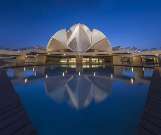 Blue Hour Shot of Lotus Temple