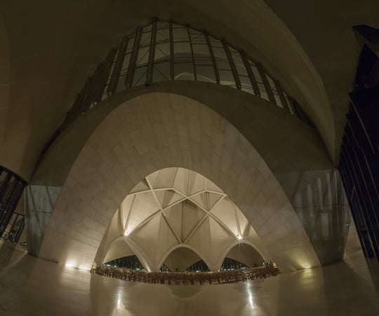 Lotus Temple Interior