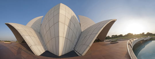 Unsusual Angle Of Lotus Temple