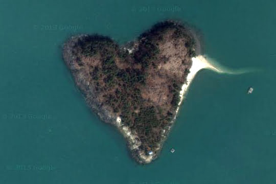 Heart-shaped Island - South Korea
