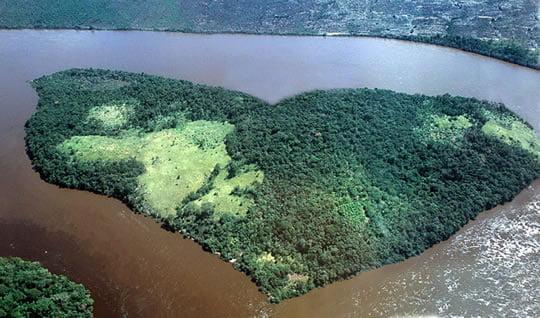Heart-shaped Island - Orinoco River - Venezuela
