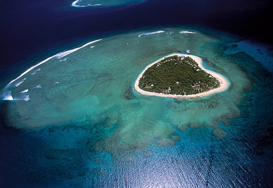 Heart-shaped Tavarua Island