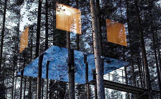 В Mirrorcube - TreeHotel
