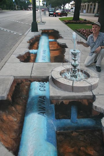 Beneath Every Street - 3D Painting by Julian Beever