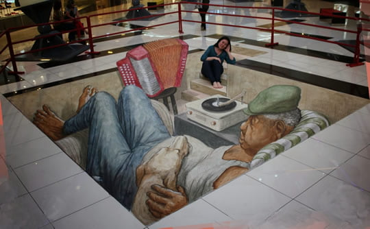 Fusion Musical – 3D Pavement Painting by Eduardo Relero