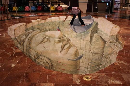 Quetzal Sagrado – 3D Street Painting by Eduardo Relero