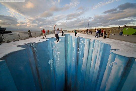 The Crevass - 3D Pavement Art by Edgar Mueller