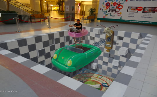 Time to Play - 3D Pavement Art by Leon Keer