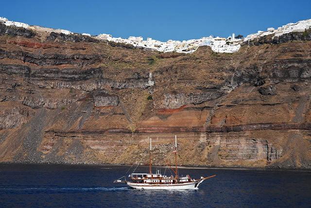 Santorini Cliff Town