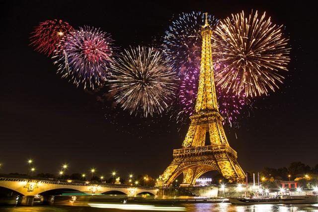 Paris New Years Eve Fireworks