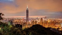 Taipei 101 and Taiwan Skyline from Elephant Mountain