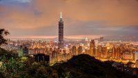 Taipei 101 and Taiwan Skyline from Elephant Mountain